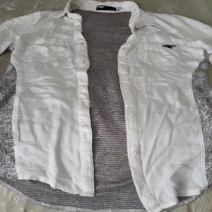 Fox racing button down shirt